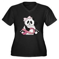 Breast Cancer Pink Ribbon Panda   For The Love Of Tees