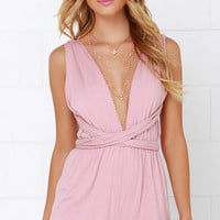 Any Way You Want Me Dusty Pink Romper