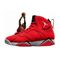 AIR JORDAN 7 ¡°UNIVERSITY RED¡± INSPIRED BY MJ¡¯S FADEAWAY