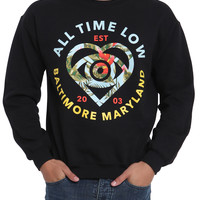 All Time Low Tropical Heart Eye Crew Pullover
