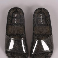 Bamboo Glitter Jelly Open Toe Slide