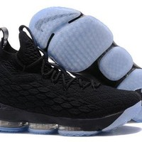 ONETOW Jacklish All Black Nike Lebron 15 Basketball Shoes For Sale