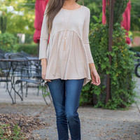 Guided By Love Top, Taupe
