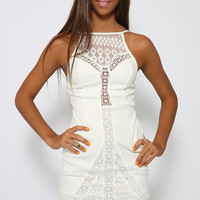 Floriane Dress - White