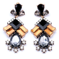 Pyramid Stud Chandelier Earrings
