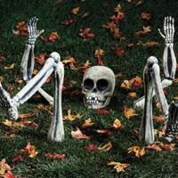 Paper Magic Group Spooky Home Decor, Lighted Ground Breakers Skeleton Body Parts (Discontinued by Manufacturer)