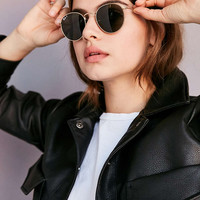 Ray-Ban Polarized Metal Round Sunglasses - Urban Outfitters