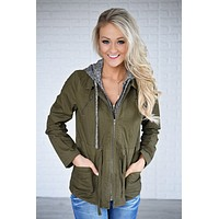 Essential Fall Jacket - Olive