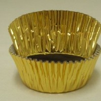 Jubilee Sweet Arts Gold Foil Cupcake Muffin Baking Cups Standard Size 50 count
