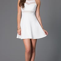 Short Sleeveless Ivory Dress