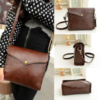 Women Leather Shoulder Bag Satchel Handbag Tote Hobo Messenger Brown = 5617182465
