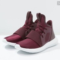 Adidas Tubular Defiant Wine Red Leisure Running Sports Shoes