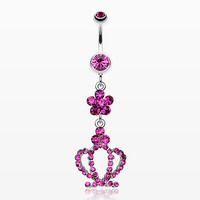 zzz-Flower Crown Sparkle Belly Ring