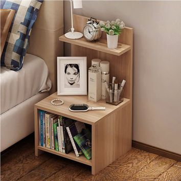 Wood Nightstand Bed End Side Table Bathroom Cabinet - Walmart.com
