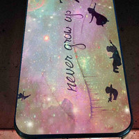 Peter Pan Quotes Never Grow Up  for iPhone 4/4s, iPhone 5/5S/5C/6, Samsung S3/S4/S5 Unique Case *76*