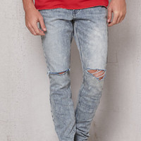 PacSun Stacked Skinny Ripped Acid Wash Stretch Jeans at PacSun.com