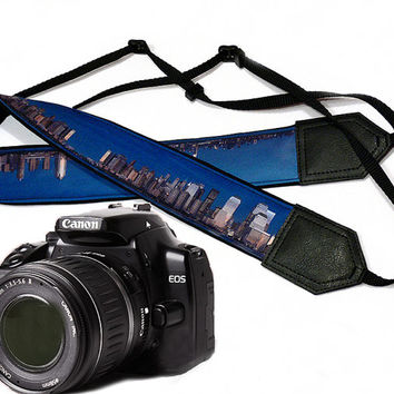 City camera strap.   Photography. DSLR Camera Strap. Camera accessories. Nikon  Canon camera strap.