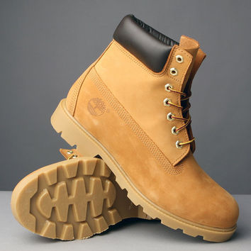 """DrJays.com - Detailed Images of WHEAT NUBUCK 6"""" BASIC BOOTS by Timberland"""