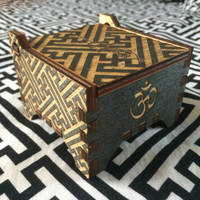 Geometric pattern box with Sayagata or Seven Jewels by ItsClearCut