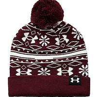 Under Armour Girls Christmas Beanie - Dark Red ONE