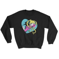 Bubblegum Sailor Moon Mens Sweater (Black) | Stami Studios