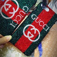 GUCCI 2018 ! iPhone X iPhone 7 iPhone 8 plus - Stylish Women Shiny Diamond On Sale Hot Deal Matte Couple Phone Case For iphone 6 6s 6plus