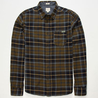 Ambig Dock Mens Flannel Shirt Olive  In Sizes