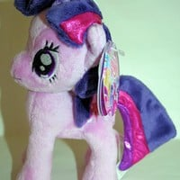 """Licensed cool 6"""" DELUXE My Little Pony Plush Twilight Sparkle Toy Doll Plushie Star Cutie Mark"""
