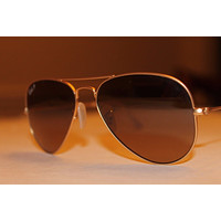 Ray Bans Gold Polarized Aviators