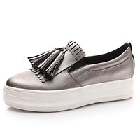 Tassel Loafers  pointed  Women Platform Shoes Casual Slip-on Flats Shoes Woman