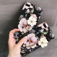 Customized Floral iPhone 7 7Plus & iPhone 6 6 Plus Case Best Protection Cover -0323