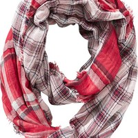 Old Navy Womens Plaid Infinity Scarves Size One Size - Red plaid