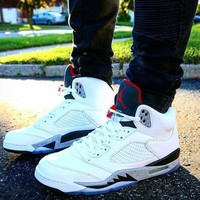 youts Nike Air Jordan 5 White Cement For Men