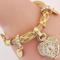 Luxury Inlay Zircon  Gold / Silver Plated Women's Bracelet