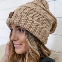 Let It Snow Beanie - Beige
