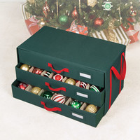Richards Homewares Holiday 54 Compartment 3 Drawer Ornament Organizer Chest & Reviews | Wayfair