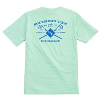 Lacrosse Tee Shirt in Offshore Green by Southern Tide