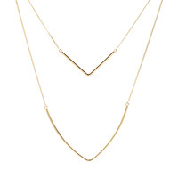 Curved Bar Layer Necklace