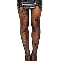 Zombie Hands Fishnet Pantyhose, Tights