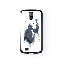 Wolf Song 3 Black Hard Plastic Case for Samsung Galaxy S4 by Balazs Solti