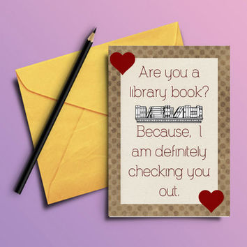 Printable funny valentine's day card, humorous valentine gift, Anniversary present, book lover card, silly greeting card, blank note card