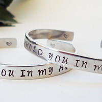 Long Distance Bracelet Cuff - Personalized Bracelet - Military Bracelet Cuff - Handstamped Cuff - Military Wife - Remembrance - Army Wife