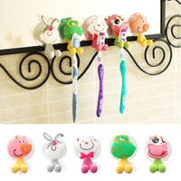 5pcs/lot Ultra Cute Cartoon Sucker Toothbrush Holder / Suction Hooks AP = 1651623492