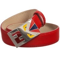 Boys 'Monster' Red Leather Belt