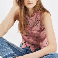 Panel Lace Shell Top