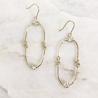 Twinkle In The Night Gold Earrings