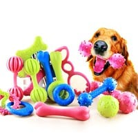 Chew Squeaky Rubber Toys for  Dogs
