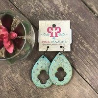 Pink Panache Demask turq earrings