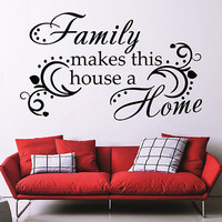 Wall Decal Quotes Family Makes This House Decals Bedroom Home Decor Vinyl MR677