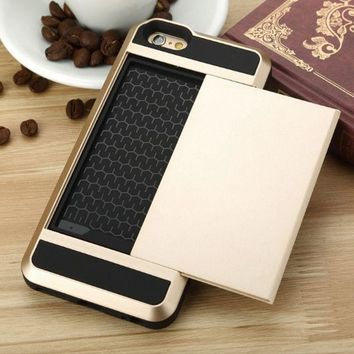 Protection Credit Card and Cash  Phone Case Cover for iPhone X XS XR iPhone XS Max & iPhone 6s 8 Plus with Gift Box